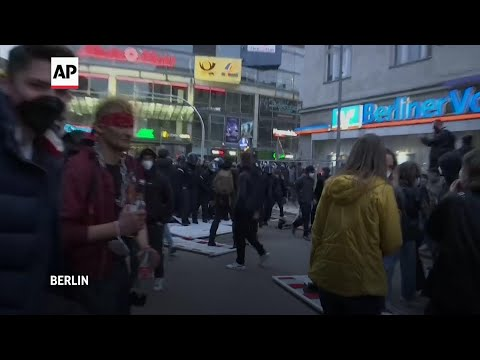 Clashes in Berlin during May Day  march