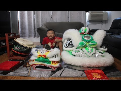 Home Lion Dance Equipment, Practice & Intro For CNY 2019 Year Of The Pig
