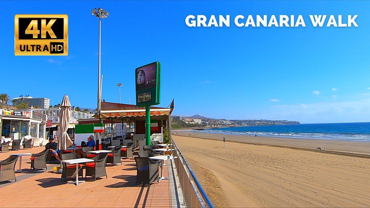 Gran Canaria Playa del Ingles Boardwalk to Yumbo Shopping Center 🔴 March 3, 2021 Maspalomas