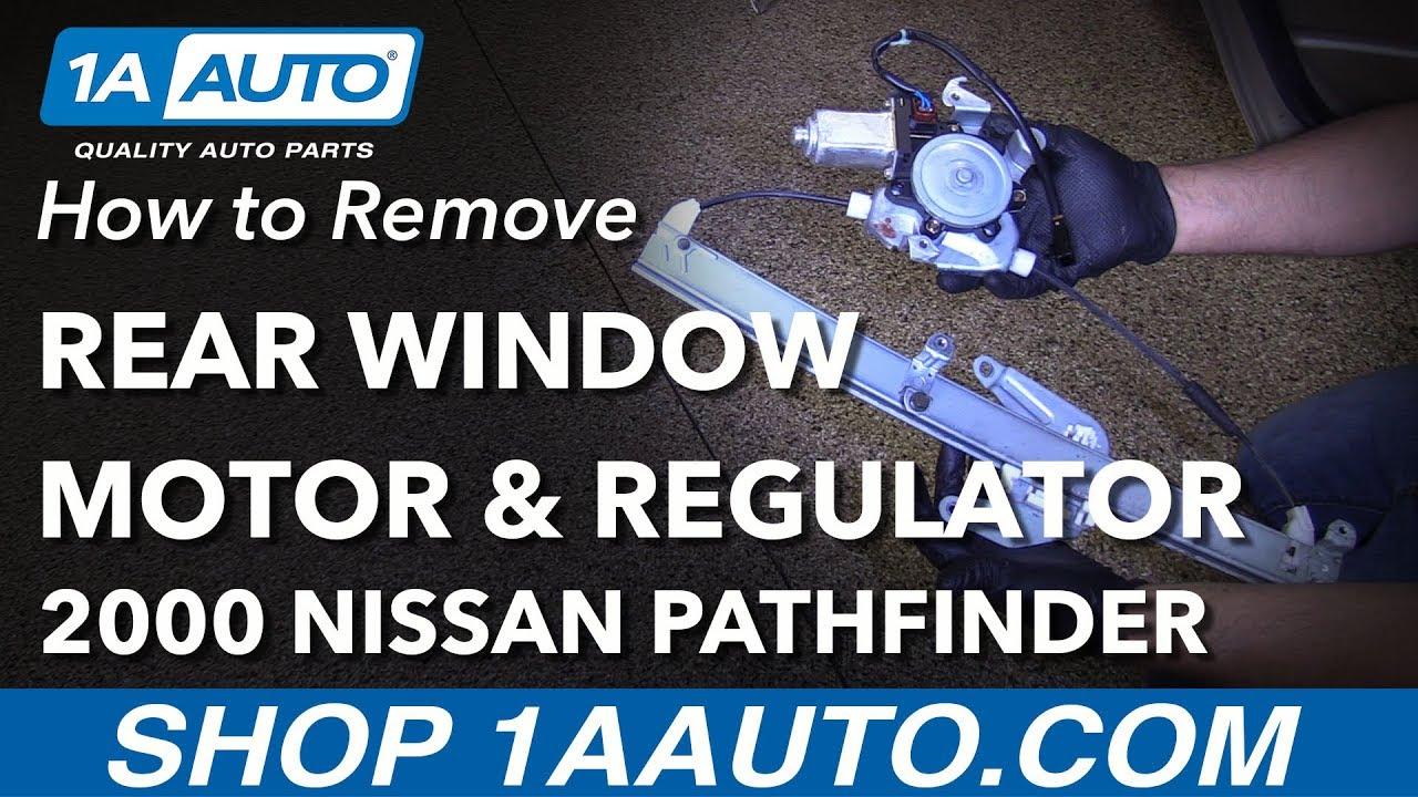 How To Remove Window Motor Regulator 96 04 Nissan Pathfinder