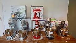 Küchenmaschinen Test 1/2 - 5 Geräte im Praxistest (WMF, Kenwood, KitchenAid & 2x Bosch)