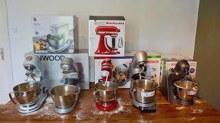 Best Stand mixers 1/2 - 5 appliances in practical test (WMF, Kenwood, KitchenAid & 2x Bosch)