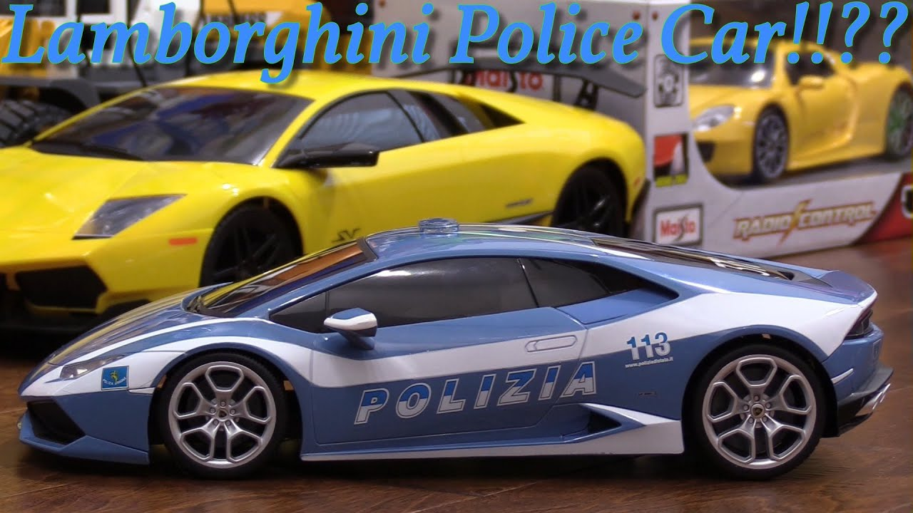 kid 39 s toy review channel an rc police car a lamborghini huracan special edition unboxing youtube. Black Bedroom Furniture Sets. Home Design Ideas