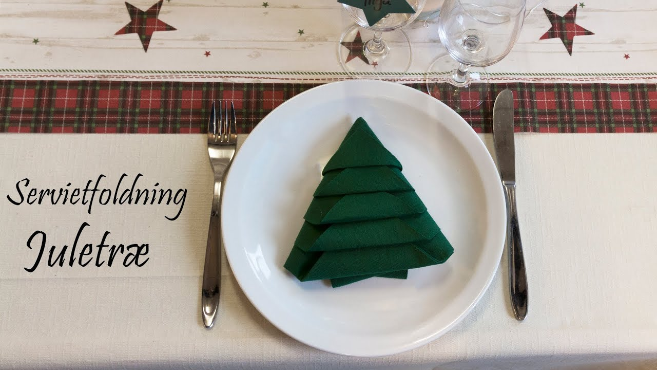 foldning af servietter juletræ