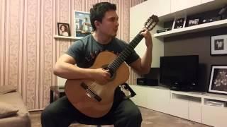 Malaguena на испанской гитаре! Фламенко
