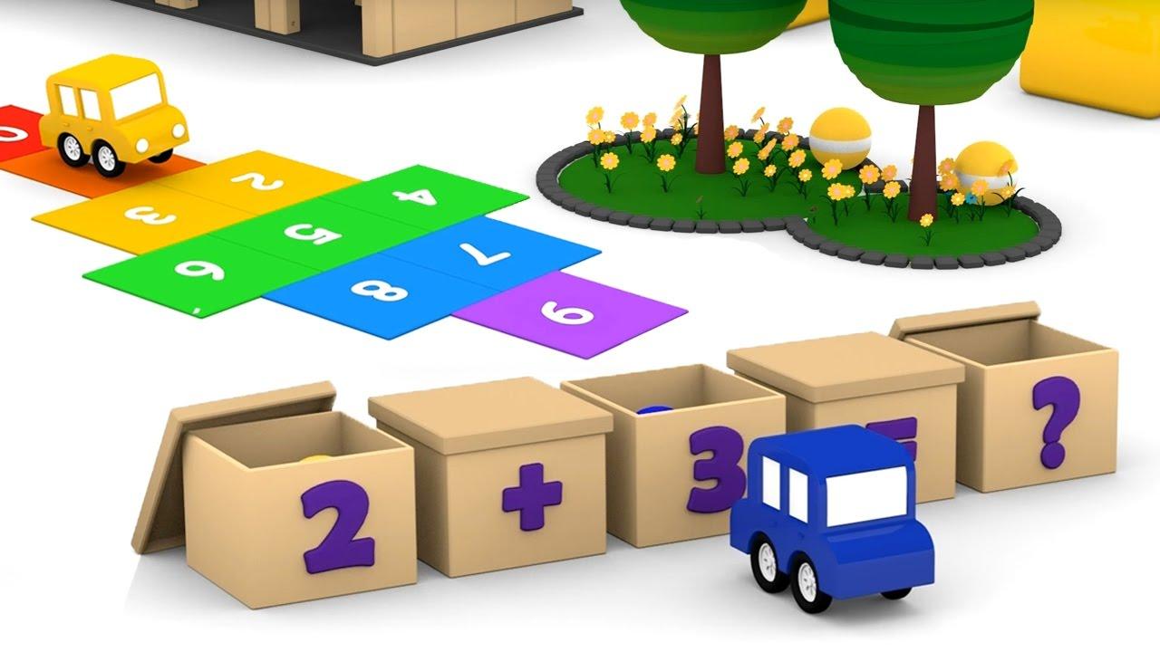 Cartoni animati per bambini macchinine colorate ed il