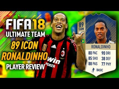 FIFA 18 ICON RONALDINHO (89) PLAYER REVIEW! FIFA 18 ULTIMATE TEAM!