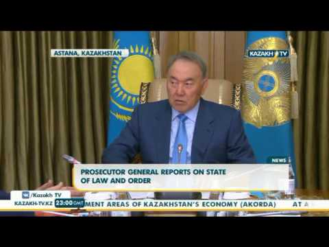 Prosecutor general reports on state of law and order - Kazakh TV