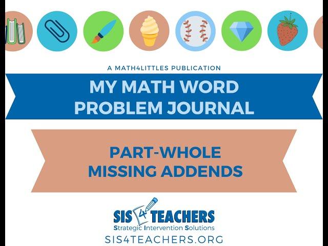 1st Grade Problem-Solving: Part-Whole Missing Addend