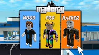 NOOB vs PRO vs HACKER 🌟 [Roblox Mad City Edition]