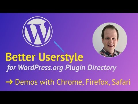 Better Styling for the WordPress Plugin Directory - Browse with a Userstyle