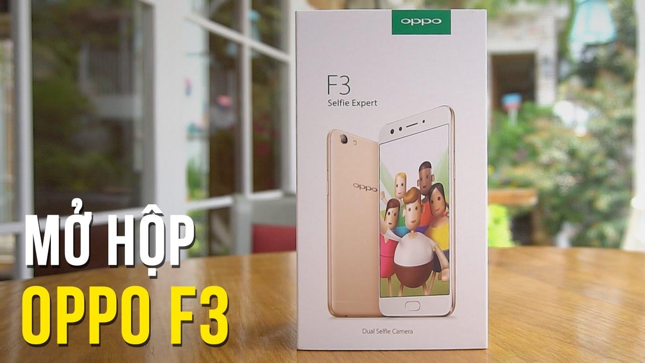 Đập hộp OPPO F3 – Bản lai giữa 2 camera selfie F3 Plus và cấu hình OPPO F1s