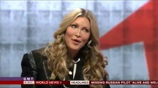 BBC World News - Interview with Caprice Bourret 25.11.2015