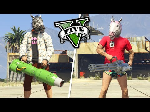 GTA V Online: NOVA MINIGUN FUTURISTA VS MINIGUN ANTIGA ! Qual é mais forte?!