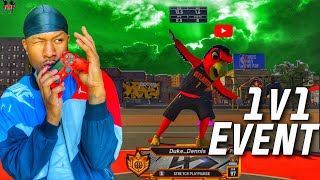MASCOT DUKE Takes Over The HARDEST 1V1 EVENT In The WORLD With The Best Build On NBA  2K20! DEMIGOD!