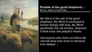 Parable of the good shepherd....