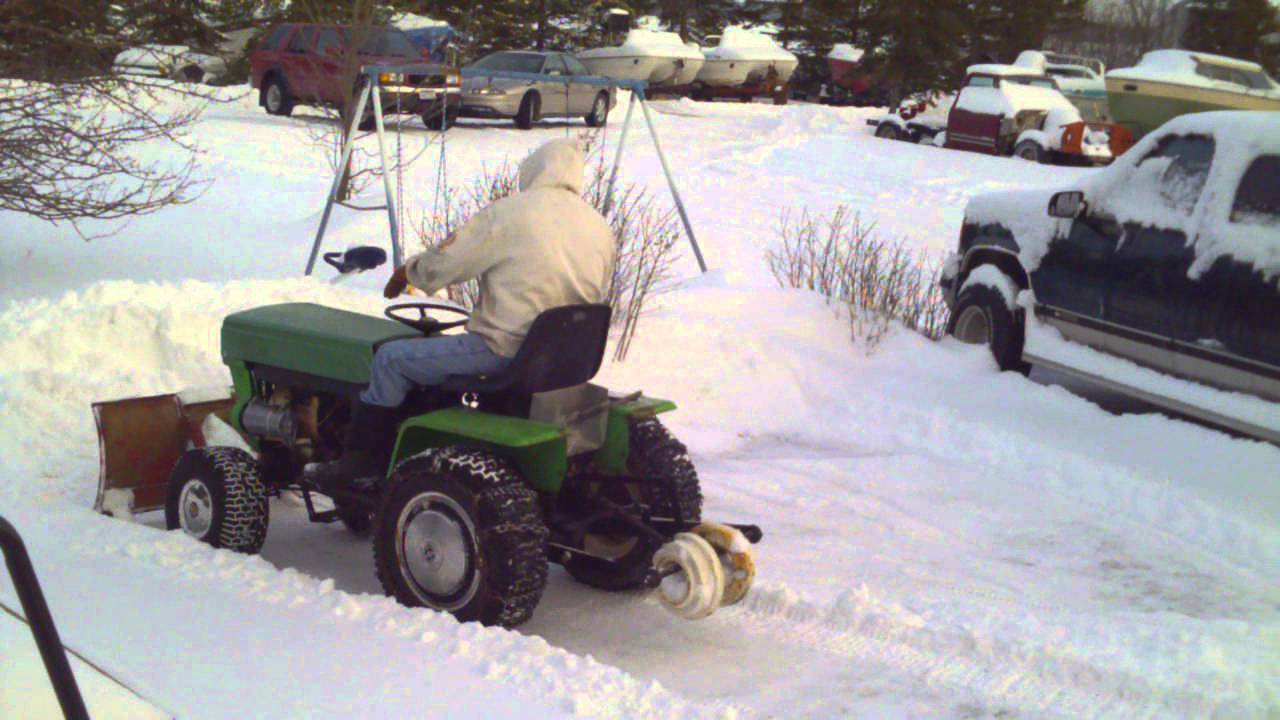 Ariens Lawn Tractor Hydro Plowing Snow