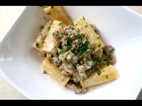 Best Pasta With Bratwurst & Sour Cream Recipe By SAM THE COOKING GUY