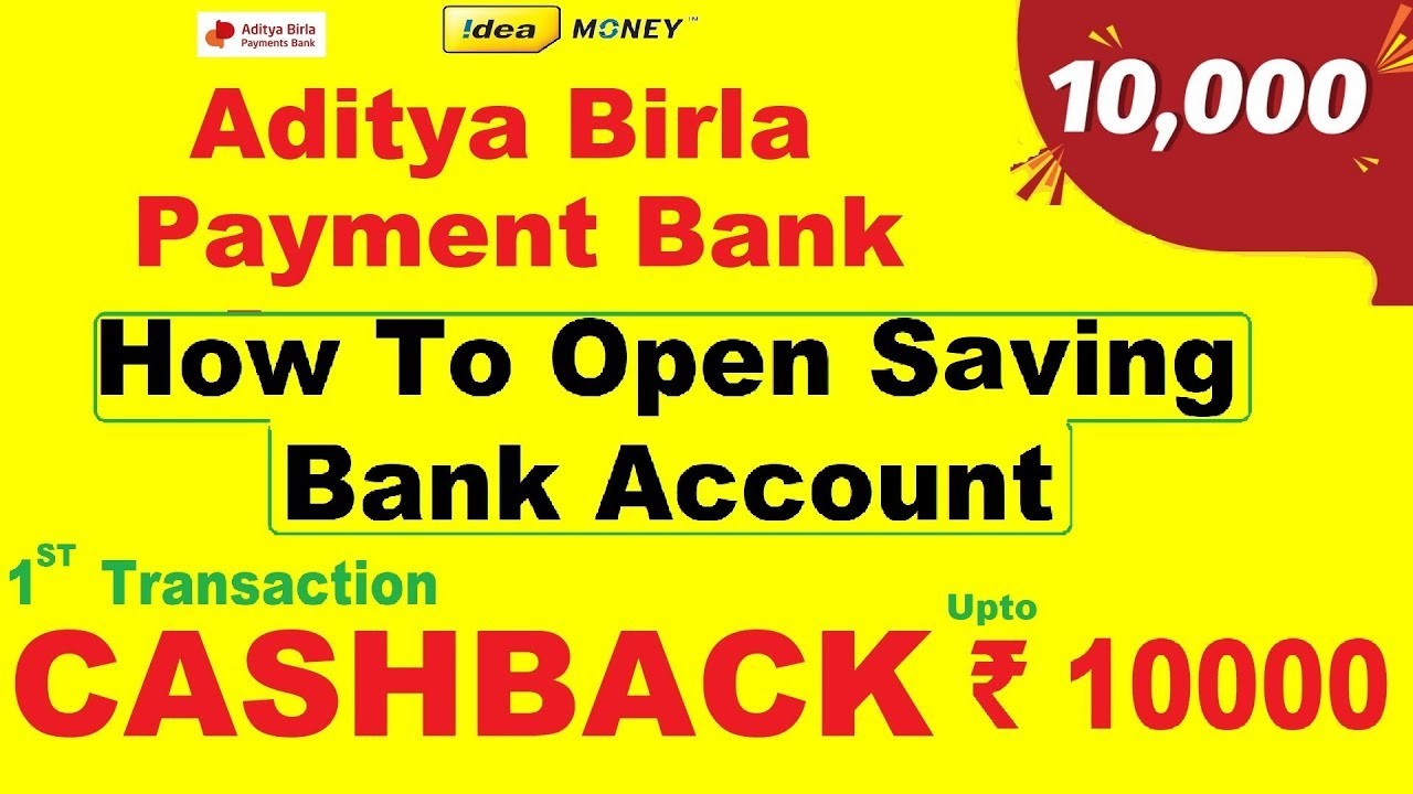 Aditya Birla payment bank How To Open Saving Bank Account LIVE DEMO 1st Transaction CASHBACK ₹10000