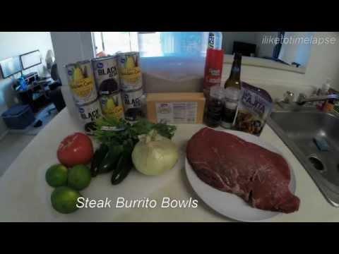 Steak Burrito Bowls! 500 Calories Each! #mealprepsunday