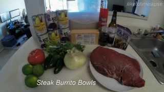 Steak Burrito Bowls! ~500 Calories Each! #mealprepsunday