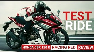 New HONDA CBR 150 R RACING RED Test Ride & Review (MotorB'e'log) #deldaily