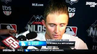 Chase Utley Slide Post Game Interview