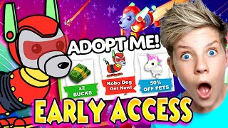 *NEW* Adopt Me Update CONFIRMED!! ROBO DOG PET! Double BUCKS, CYBER UPDATE Christmas Pets!! ADOPT ME