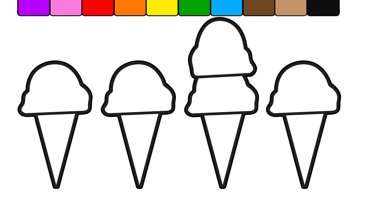 learn colors for kids with this double ice cream popsicle coloring