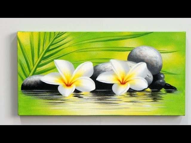 Step By Step Acrylic Painting On Canvas For Beginners Nature Scenery Painting Easy Panting Youtube