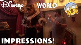 THE BEAST RECOGNIZED ME!  Disney World impressions