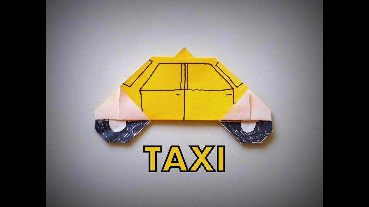 Origami how to make a taxi youtube jeuxipadfo Choice Image