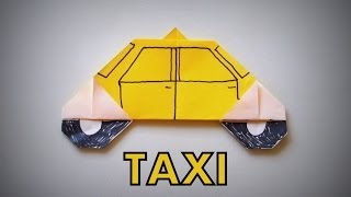 Origami - How to make a TAXI
