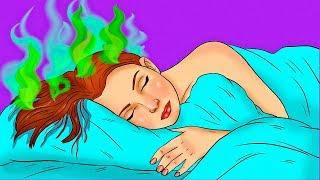 10 Gründe, warum du Niemals mit nassem Haar schlafen solltest