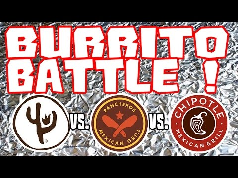BURRITO BATTLE (Food Review)! - Qdoba, Chipotle and Panchero