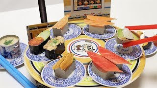 DIY Sushi Go Round Catching Game Paper Craft