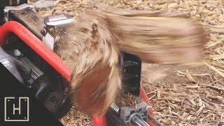 $300 Log Splitter VS Mesquite Hardwood!! WOW!!