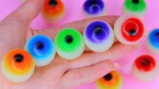 How To Make Colors Eyeball Jelly Pudding DIY Rainbow Colors Eye Gummy Recipe