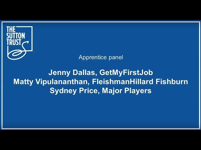 Apprentice Panel #BetterApprenticeships