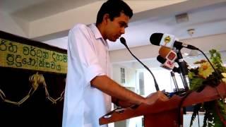 Akash Widanapathirana Announcing at Sunday School Prize Giving -2016