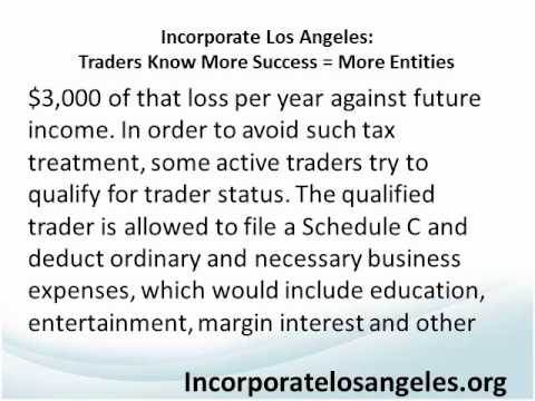 Incorporate Los Angeles Traders know More Success Equals More Entities.wmv