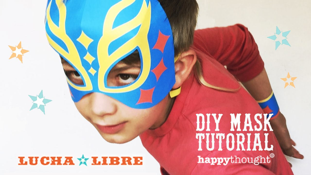 Lucha Libre Youtube Printable Lucha Libre Mask Tutorial Easy Costume Idea