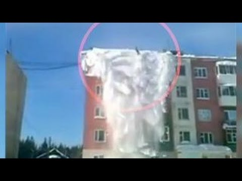 Уборка снега по-якутски: