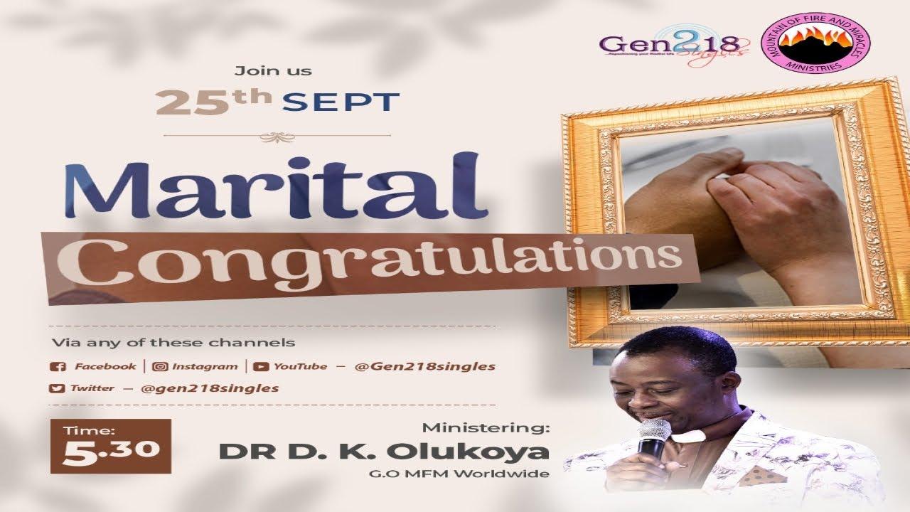 Download MFM Gen218 Marital Congratulations 25-09-21 (Dr D. K. Olukoya)