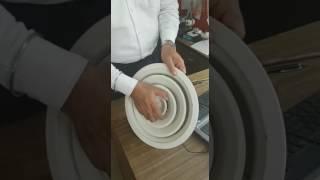 Balancing of Circular Diffuser with inbuilt damper