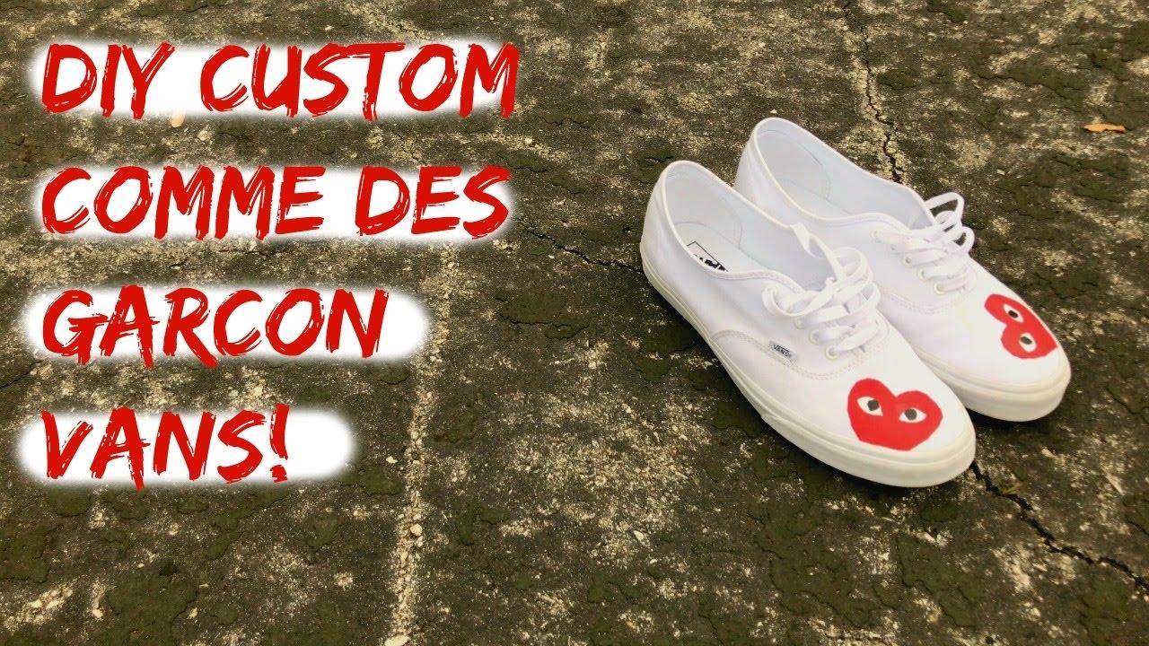 27864c8070b DIY CUSTOM COMME DES GARCON VANS