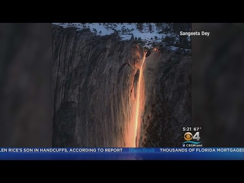 Firefall At Yosemite National Park