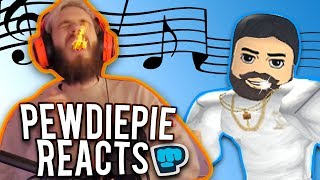 Pewdiepie Likes my Roblox Music Video! (Drake - God's Plan) | Sad guest story | Reaction