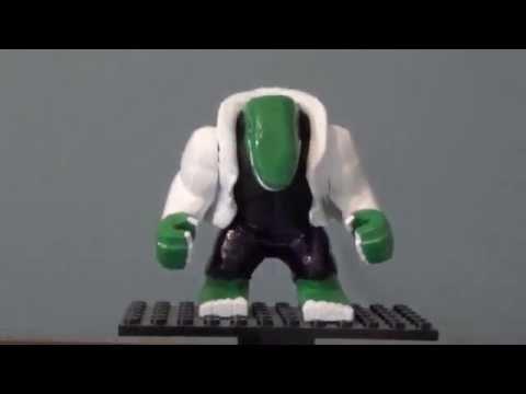 Lego Marvel Custom Lizard Big Fig - YouTube
