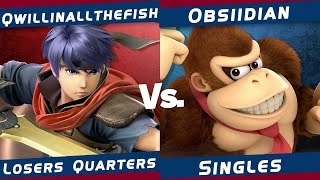 The Region Rumble #4 | Smash Ultimate | Qwillinallthefish (Ike) VS Obsiidian (Donkey Kong)